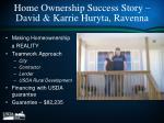 home ownership success story david karrie huryta ravenna