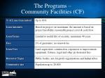 the programs community facilities cf