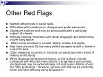 other red flags