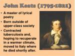 john keats 1795 1821