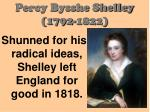 percy bysshe shelley 1792 182212