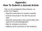 appendix how to submit a journal article