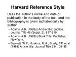 harvard reference style