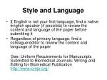 style and language14