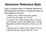 vancouver reference style