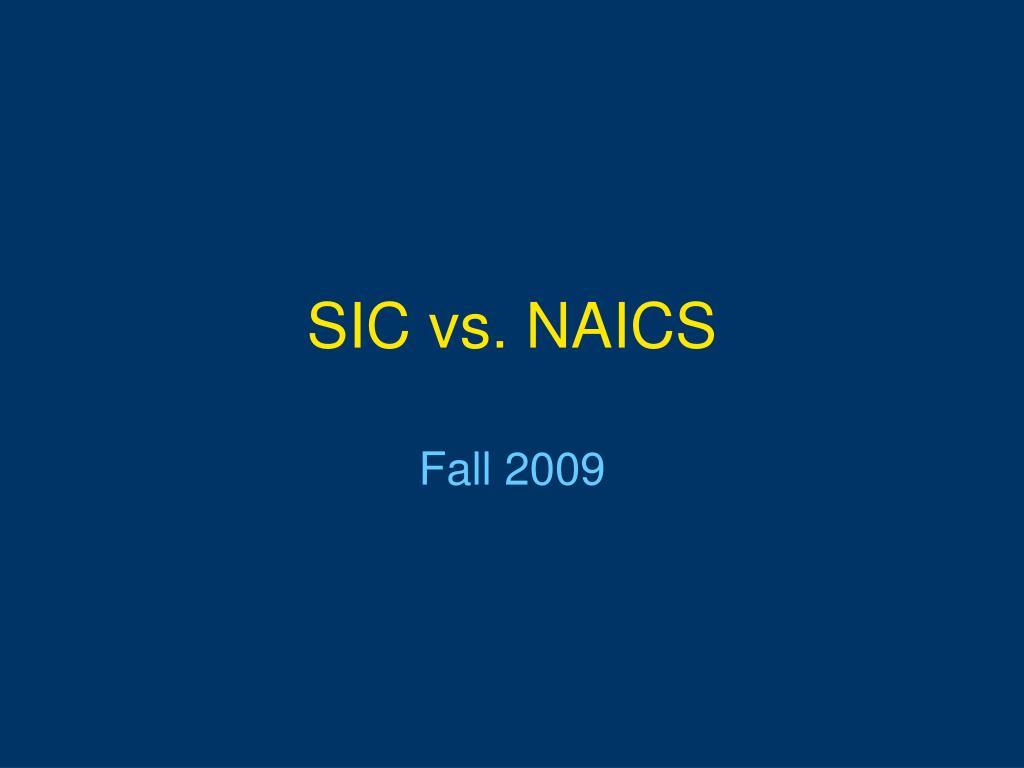 sic vs naics l.