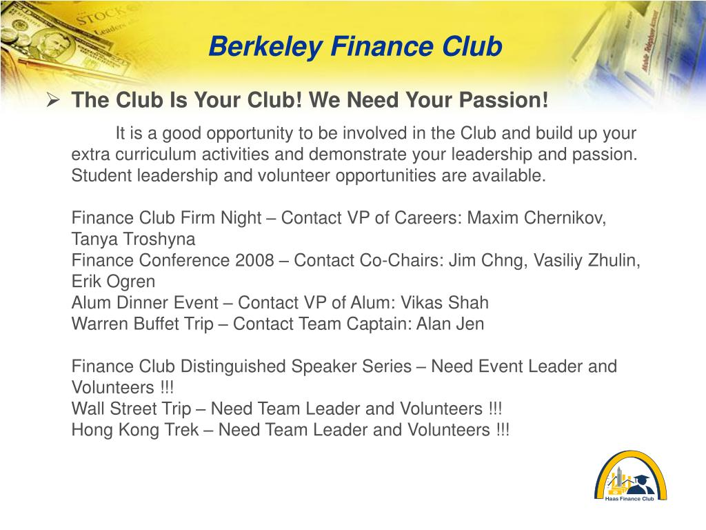 The Club Is Your Club! We Need Your Passion!
