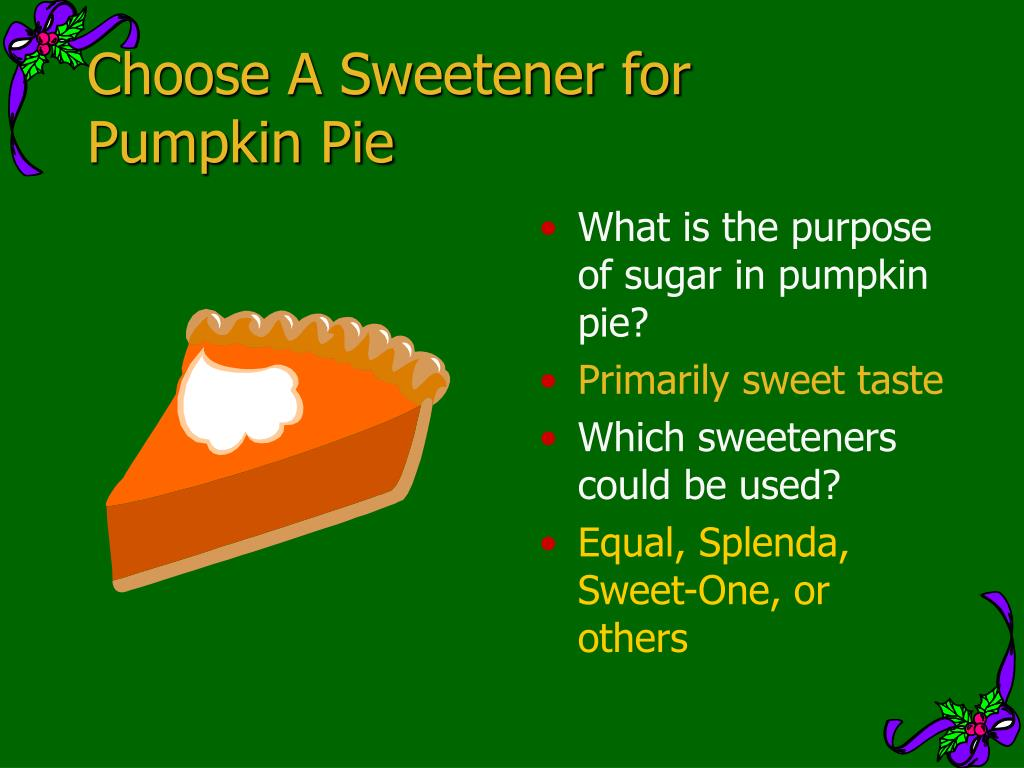 Choose A Sweetener for