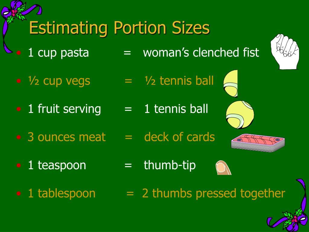 Estimating Portion Sizes