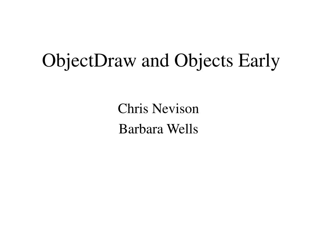 objectdraw and objects early l.