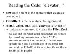 reading the code elevator10