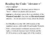 reading the code elevator11