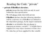 reading the code private7