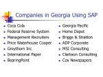 companies in georgia using sap