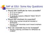 sap at gsu some key questions