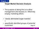target market decision analysis