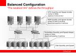 balanced configuration the weakest link defines the throughput
