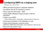 configuring dbfs as a staging area steps on the os19