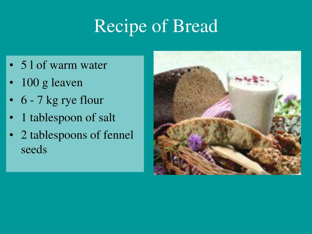 Recipe of Bread