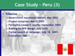 case study peru 3