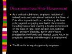 discrimination anti harassment
