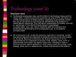 technology cont d