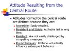 attitude resulting from the central route