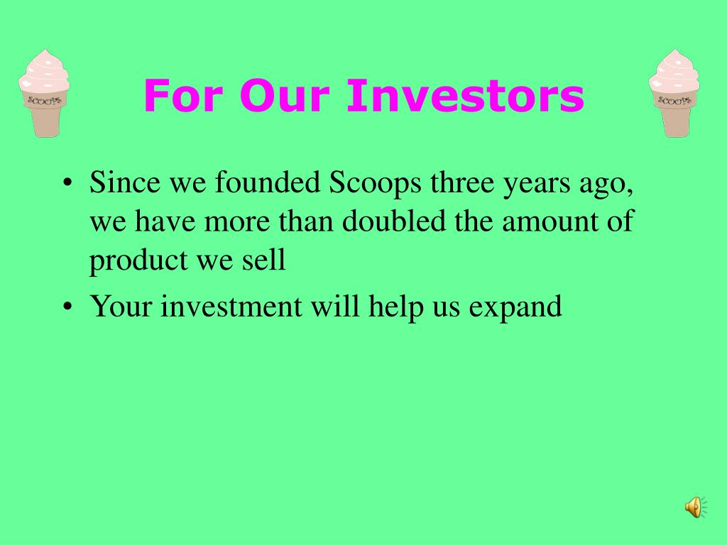 For Our Investors