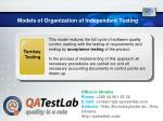 models of organization of independent testing5