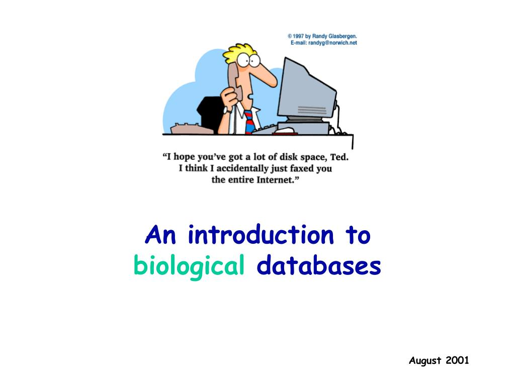 an introduction to biological databases l.