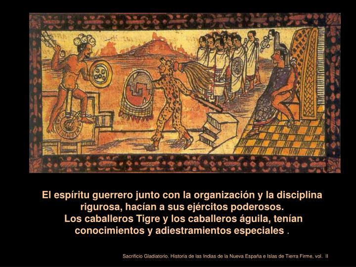 El espíritu guerrero junto con la organización y la disciplina rigurosa, hacían a sus ejércitos poderosos.