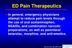 ed pain therapeutics