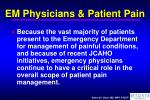 em physicians patient pain