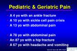 pediatric geriatric pain