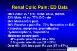 renal colic pain ed data