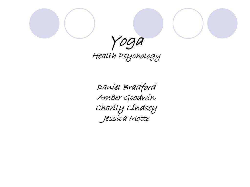 yoga health psychology daniel bradford amber goodwin charity lindsey jessica motte l.