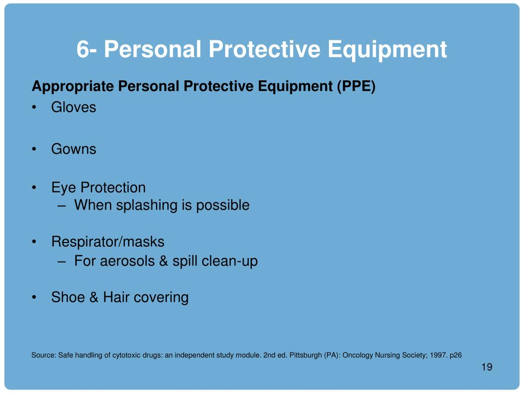 6- Personal Protective Equipment