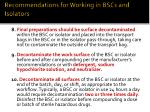 recommendations for working in bscs and isolators11