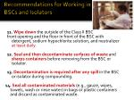recommendations for working in bscs and isolators12