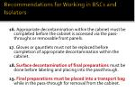 recommendations for working in bscs and isolators13