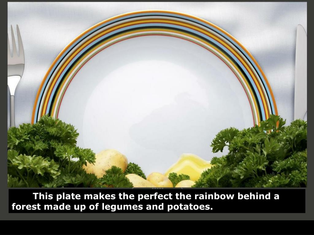 This plate makes the perfect the rainbow behind a forest made up of legumes and potatoes.