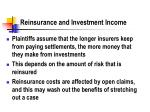 reinsurance and investment income