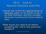 no 3 look for advance decisions and lpas