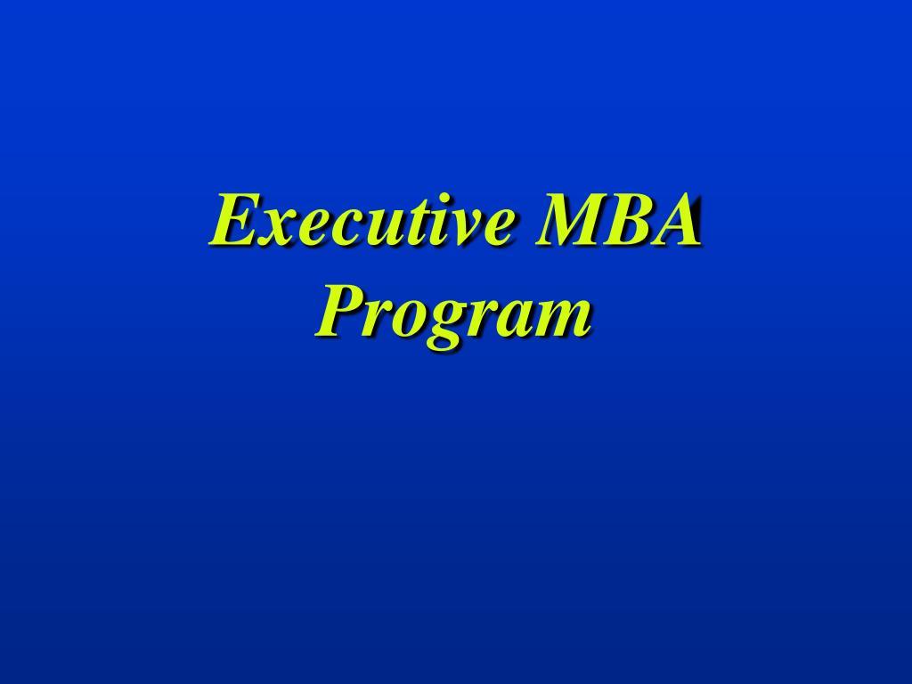 executive mba program l.