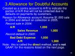 3 allowance for doubtful accounts