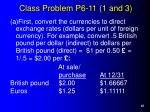 class problem p6 11 1 and 3
