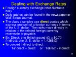 dealing with exchange rates