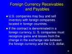 foreign currency receivables and payables