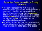 payables denominated in a foreign currency