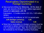 receivables denominated in a foreign currency38